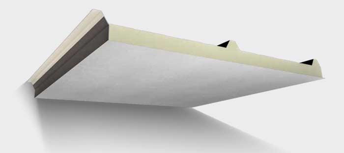 ساندویچ پانل سقفی 3 گام با ورق GRP و عایق پلی اورتان / پلی ...